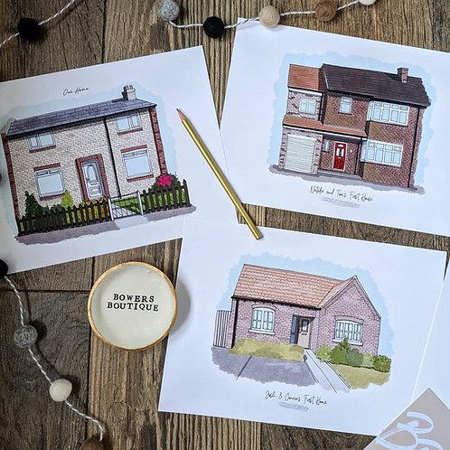 Custom House Drawing Illustration