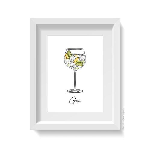 Gin & Tonic Print
