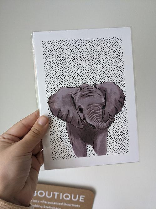 A5 Elephant Dot Print - Dents in top edges