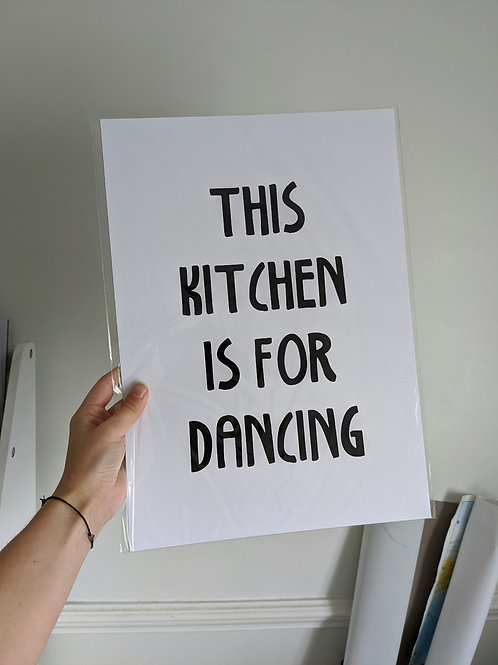 A3 Kitchen for dancing print
