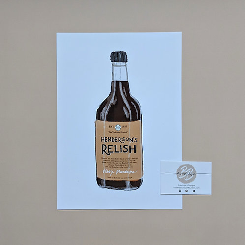 Henderson's Relish Bottle Drawing