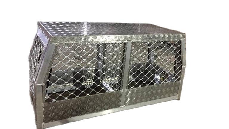 Aluminium Dog Box, 800 x 1770 x 860 mm, full mesh
