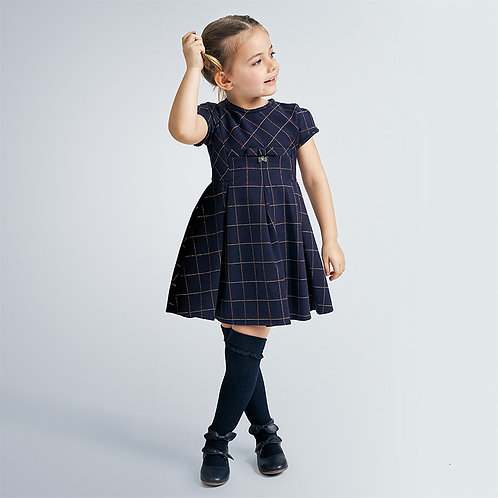 Mayoral Navy windowpane Dress