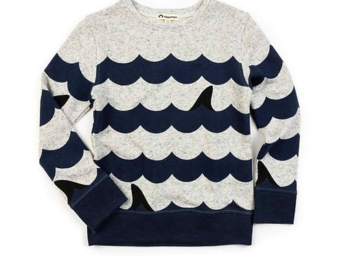 Appaman wave/shark fin sweatshirt