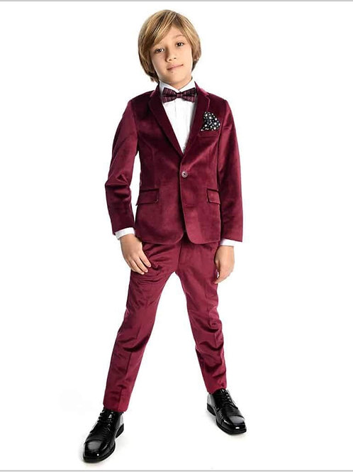 burgandy velvet suit