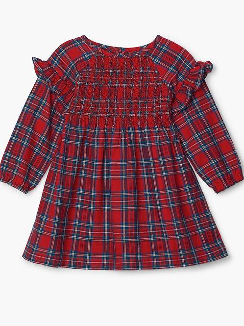 Smocked tartan dress