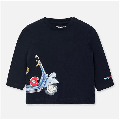 Mayoral navy scooter tee
