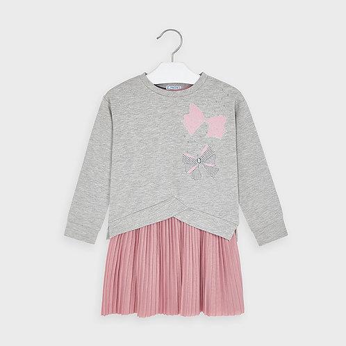 Mayoral Pink & Gray Dress