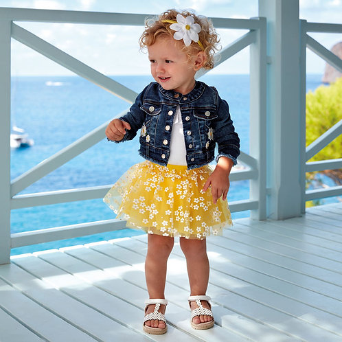 Mayoral tulle daisy skirt