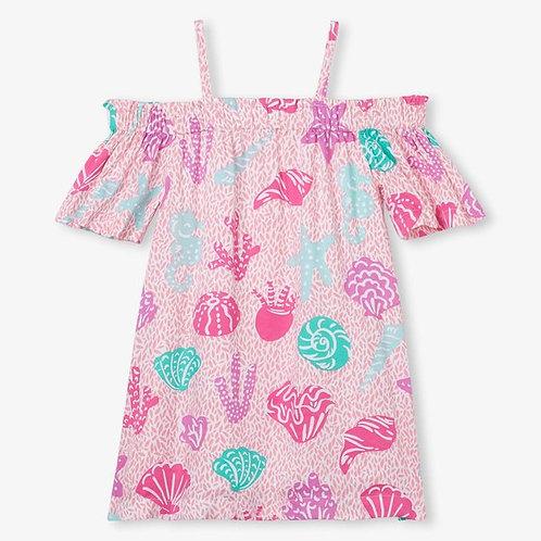 sea shell drop shoulder dress