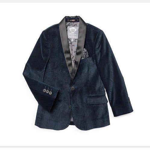 Blue velvet tux jacket