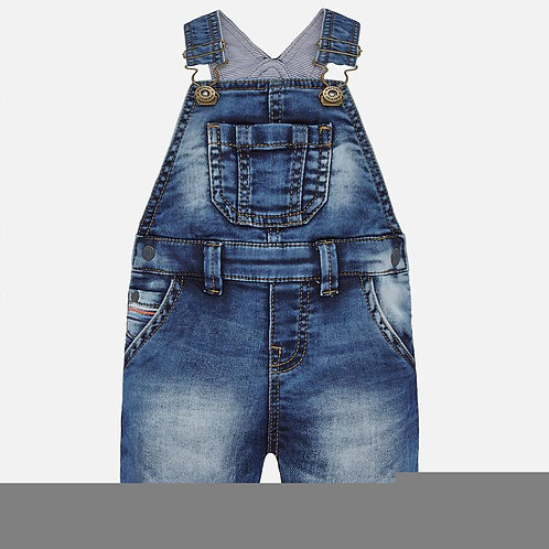 Mayoral stretch denim short overall