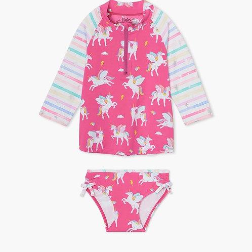 Hatley unicorn rash guard swim