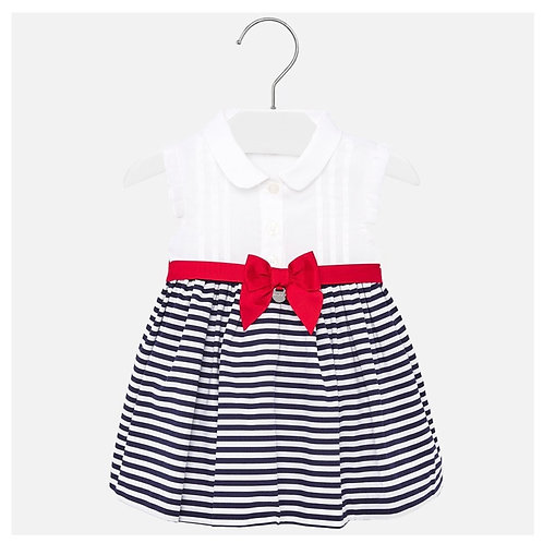 Mayoral striped sailor dress with bow accent