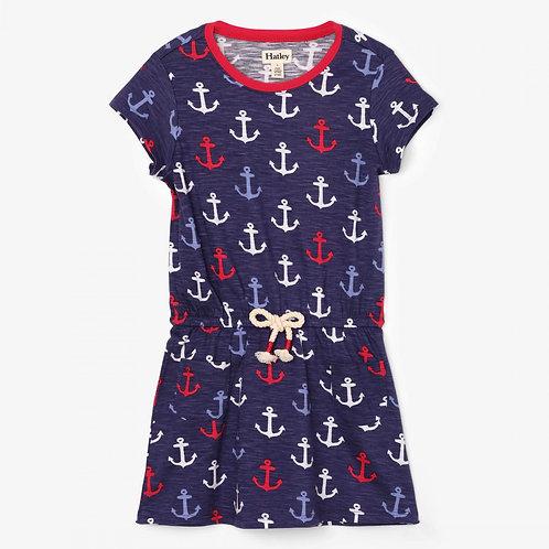 Hatley jersey knit anchor dress w/ pockets