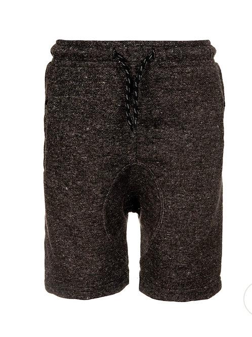 Steel heathered knit short