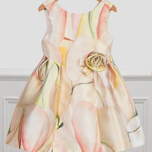 Rosette accent dress