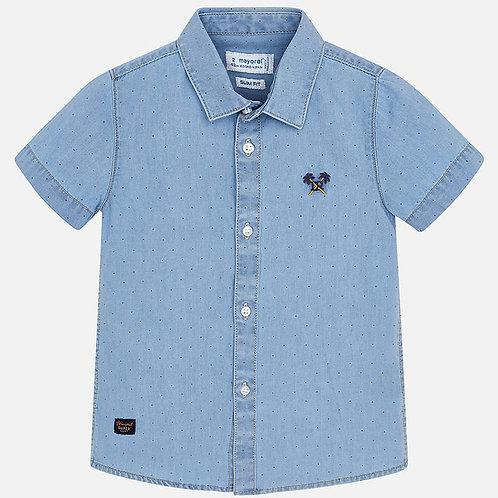 Mayoral denim dot s/s shirt