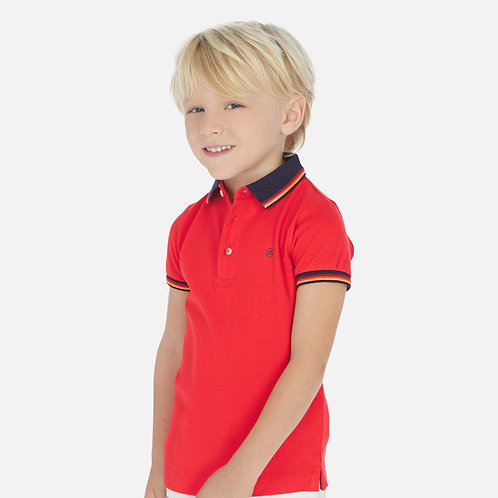 Mayoral hibiscus polo w/ piping