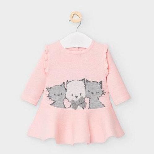Mayoral knit kitten dress
