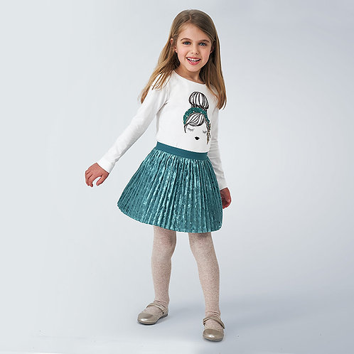 Mayoral Teal skirt
