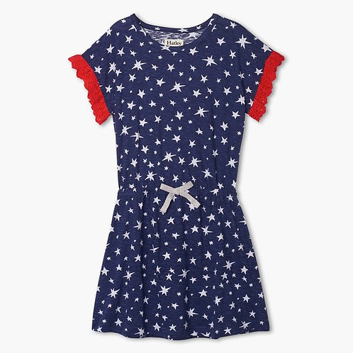 Hatley star dress with eyelet detail