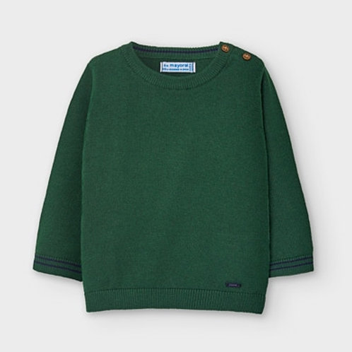 Mayoral green sweater w/ navy accent