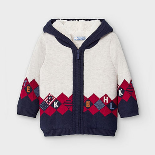 Mayoral sherpa lined knit hoodie