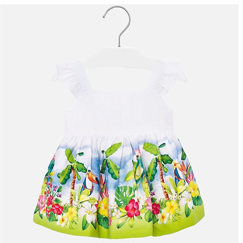 Mayoral tropical bird/flower dress