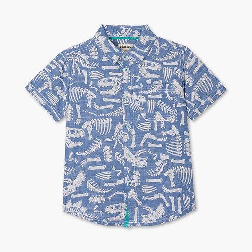 Hatley dino chambray shirt