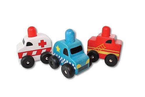 Squeaker Emergency Cars