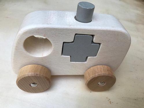Chunky Shape Truck - White Ambulance