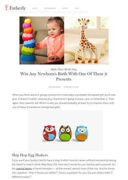 USA - The Best Gifts For Newborns