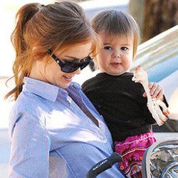 Isla Fisher and daughter Olive