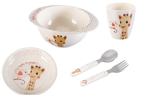 Sophie the Giraffe Mealtime set - Kiwi