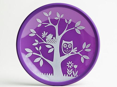 It's a Hoot Purple Plate