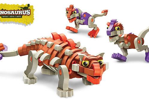 Ankylosaur & Young Raptors