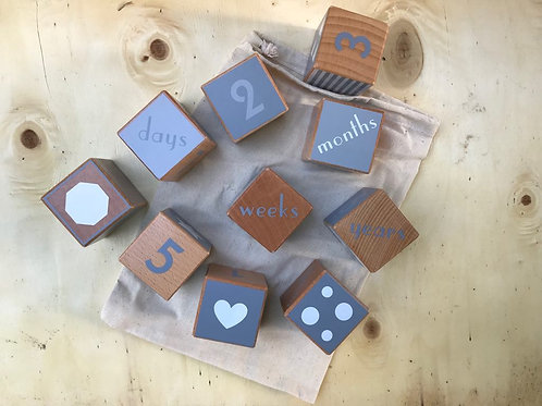 Wooden Shape and Number Blocks