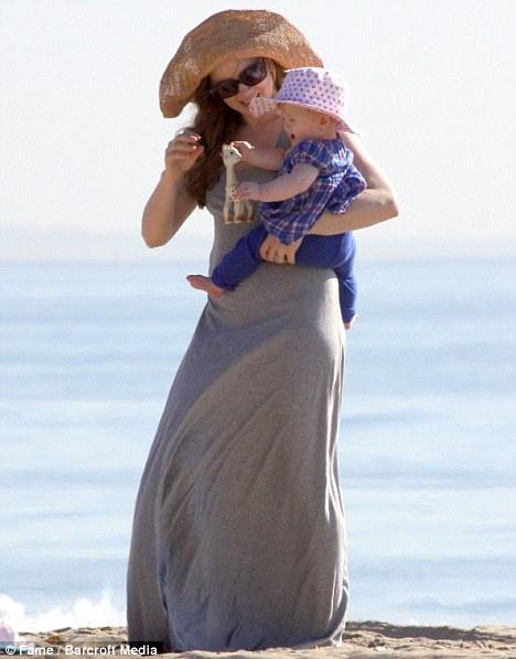 Amy Adams and daughter Aviana