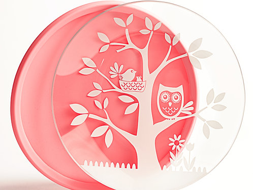 It's a Hoot Pink Plate
