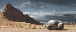 Vessel in the desert