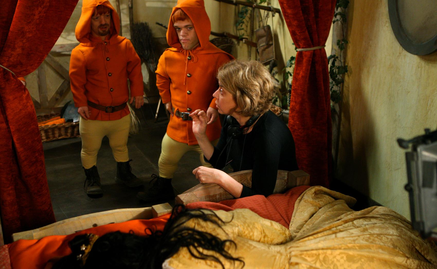 Snow White - on the set