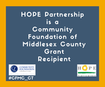 HOPE PARTNERSHIP, INC. RECEIVES $4,000 GRANT FROM THE COMMUNITY FOUNDATION OF MIDDLESEX COUNTY