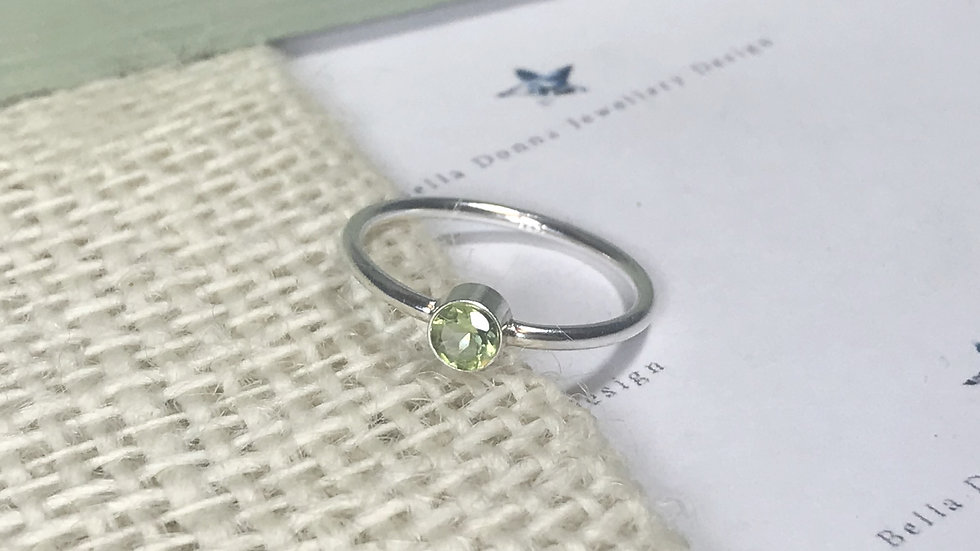 Sterling silver 6mm CZ Cubic Zirconia ring
