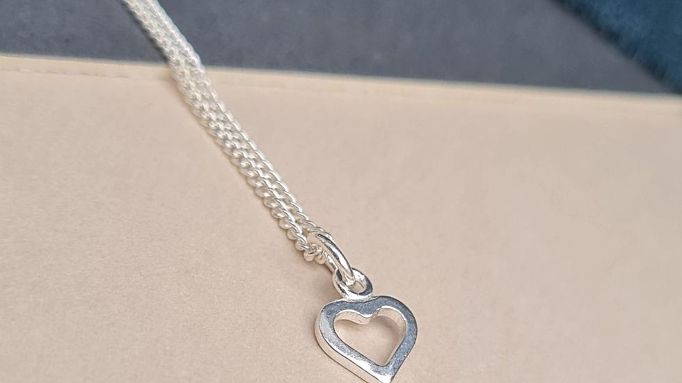 Sterling Silver Mini open heart Pendant