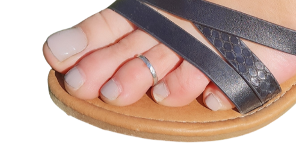 Sterling silver plain or hammered toe rings
