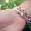 Thumbnail: Sterling silver chunky Bee 7 ring charm bangle