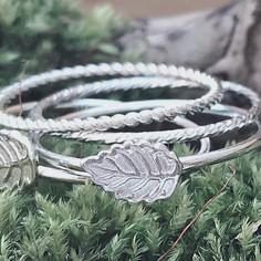 Leaf stacking ring set