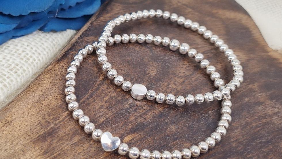Sterling silver Eleri beaded Bracelet