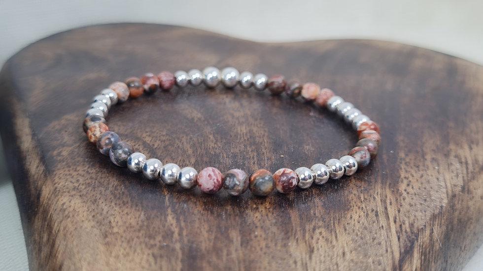 Sterling Silver 'Mara' Semi Precious birthstone bracelet